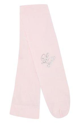 Детские колготы со стразами LA PERLA розового цвета, арт. 42208/4-6 | Фото 1
