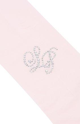 Детские колготы со стразами LA PERLA розового цвета, арт. 42208/4-6 | Фото 2