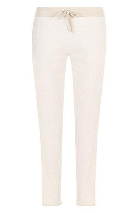 Хлопковые укороченные брюки с эластичным поясом | Фото №1