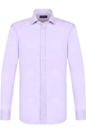 Мужская хлопковая сорочка с воротником кент RALPH LAUREN светло-сиреневого цвета, арт. 791691513 | Фото 1
