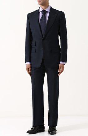 Мужская хлопковая сорочка с воротником кент RALPH LAUREN светло-сиреневого цвета, арт. 791691513 | Фото 2