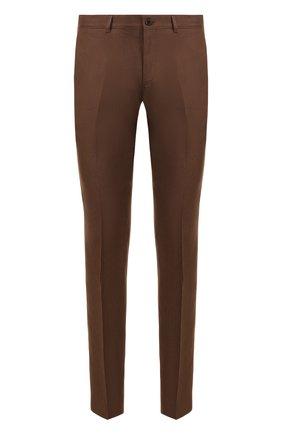 Мужские льняные брюки RALPH LAUREN коричневого цвета, арт. 790585317 | Фото 1