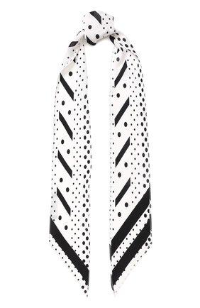 Шелковый шарф-бандо с принтом | Фото №1