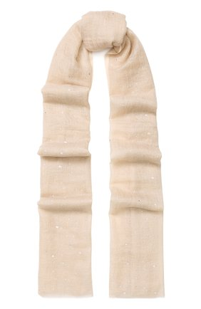 Кашемировый шарф с отделкой из страз | Фото №1