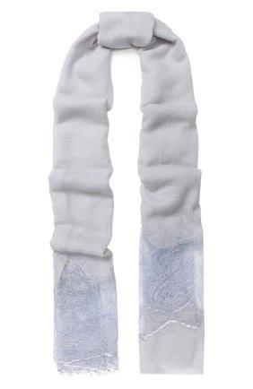 Шерстяной шарф с кружевной отделкой | Фото №1