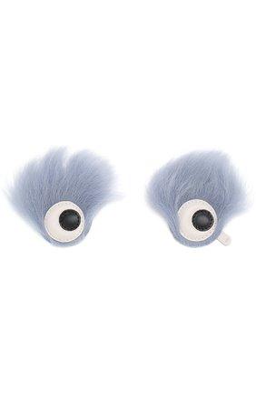Аппликация Eyes с отделкой из овчины | Фото №1