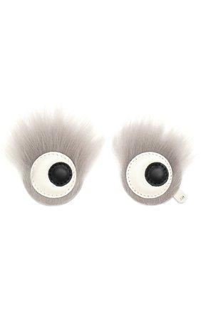 Аппликация Eyes с отделкой из овчины   Фото №1