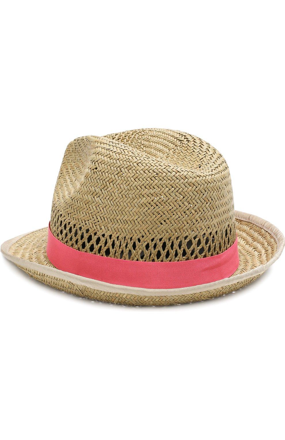 Соломенная шляпа с лентой Emporio Armani коричневого цвета | Фото №2