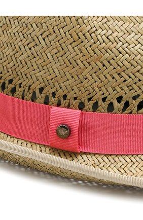 Соломенная шляпа с лентой Emporio Armani коричневого цвета | Фото №3