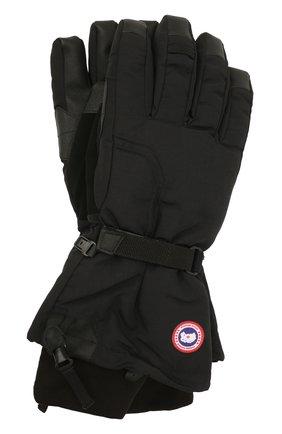 Мужские пуховые перчатки с манжетами CANADA GOOSE черного цвета, арт. 5159M | Фото 1