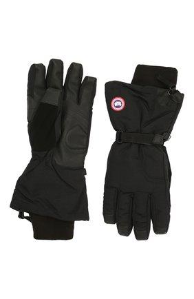 Мужские пуховые перчатки с манжетами CANADA GOOSE черного цвета, арт. 5159M | Фото 2