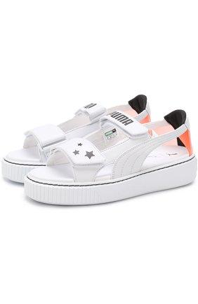 Кожаные сандалии Puma x Sophia Webster Puma белые   Фото №1
