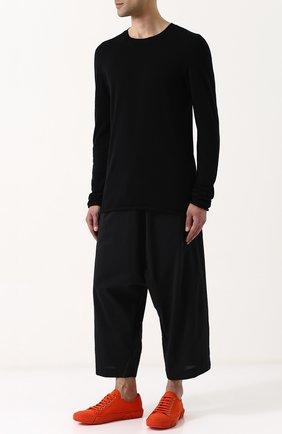 Текстильные кеды на шнуровке Both черные | Фото №1