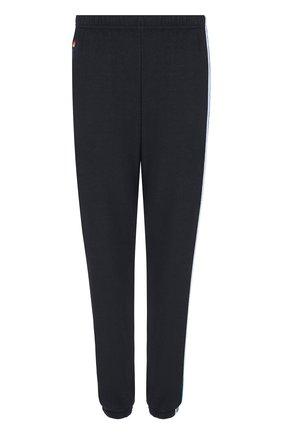 Однотонные брюки с контрастными лампасами