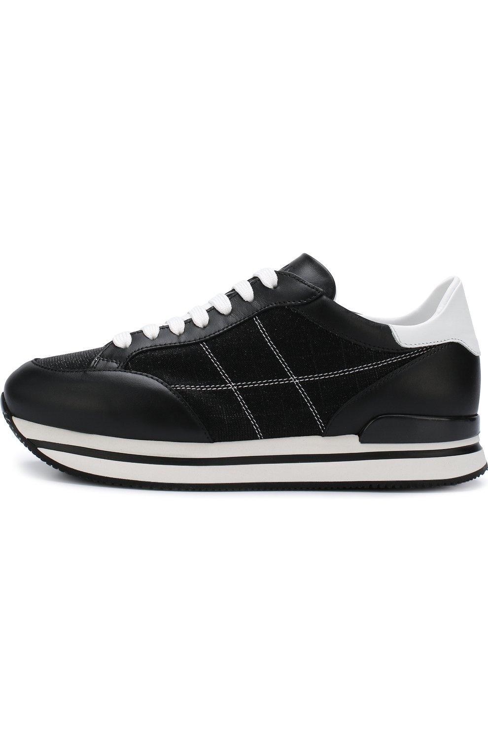 Комбинированные кроссовки на шнуровке   Фото №3