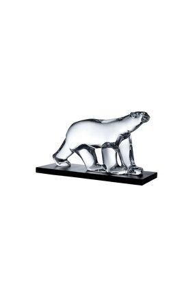 Мужского полярный медведь на подставке pom pom BACCARAT прозрачного цвета, арт. 2 606 796   Фото 1