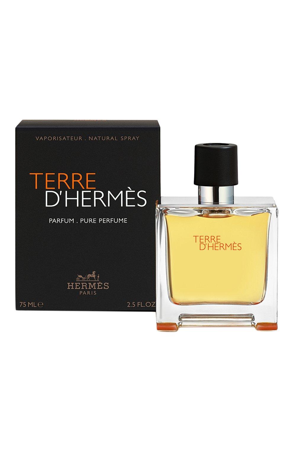 Мужской духи terre d'hermès (75ml) HERMÈS бесцветного цвета, арт. 24578H   Фото 2 (Статус проверки: Проверена категория; Ограничения доставки: flammable)