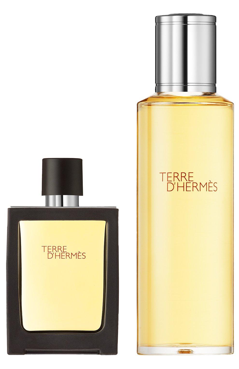 Мужские набор: духи terre d'hermès + refill HERMÈS бесцветного цвета, арт. 277791H | Фото 1