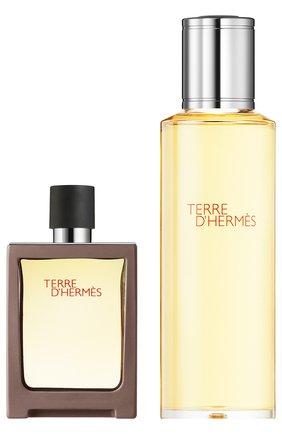 Набор: Туалетная вода Terre d'Hermès + refill | Фото №1