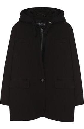Пальто на молнии с капюшоном | Фото №1