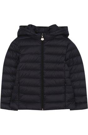 Детского пуховая куртка с капюшоном MONCLER ENFANT синего цвета, арт. D1-954-46810-99-53048/4-6A   Фото 1
