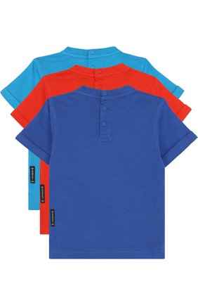 Хлопковый комплект из трех футболок с принтом | Фото №2