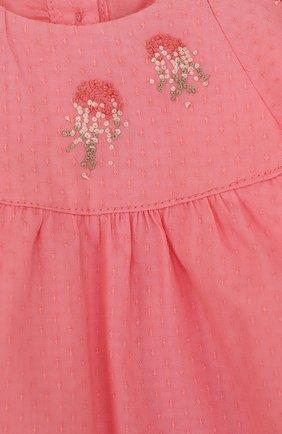 Детский хлопковый комплект из блузы и шорт TARTINE ET CHOCOLAT розового цвета, арт. TL37031   Фото 3 (Рукава: Короткие; Материал внешний: Хлопок; Статус проверки: Проверено, Проверена категория; Ростовка одежда: 9 мес   74 см)