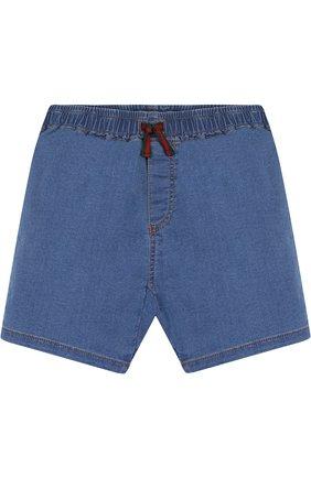 Детские джинсовые шорты на кулиске GUCCI синего цвета, арт. 503325/X9P41 | Фото 1