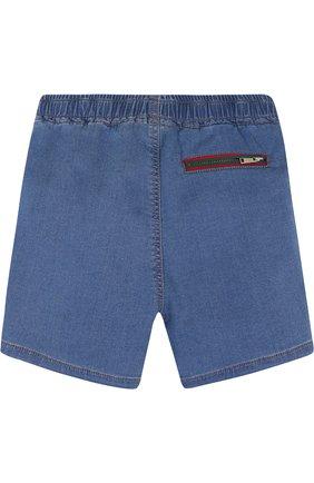 Детские джинсовые шорты на кулиске GUCCI синего цвета, арт. 503325/X9P41 | Фото 2