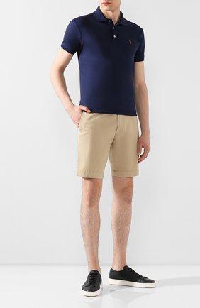 Мужские хлопковые шорты  POLO RALPH LAUREN бежевого цвета, арт. 710646709   Фото 2