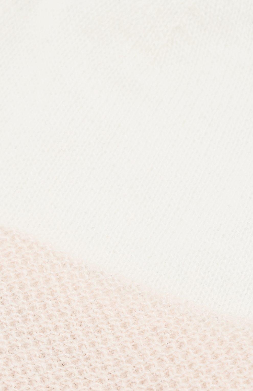 Детского кашемировая шапка с декором LORO PIANA розового цвета, арт. FAG2014   Фото 3