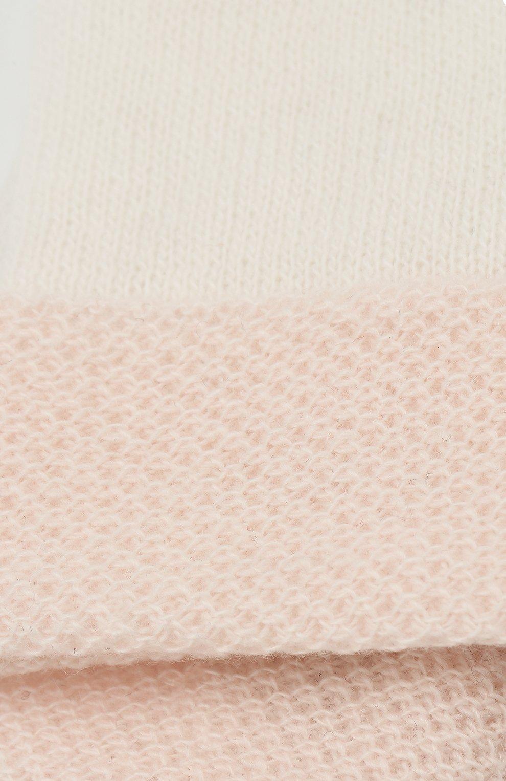 Детские кашемировые варежки LORO PIANA розового цвета, арт. FAG2015 | Фото 3