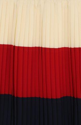 Плиссированная юбка с металлизированной отделкой на поясе | Фото №3