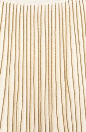 Плиссированная юбка с металлизированной отделкой | Фото №3
