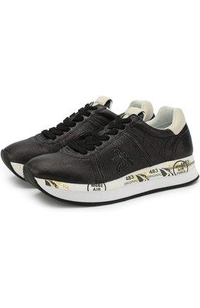 Кожаные кроссовки Conny на шнуровке | Фото №1