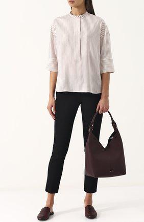Сумка Small Build a Bag Anya Hindmarch бордовая цвета | Фото №1