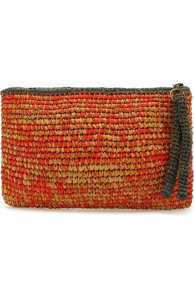 Клатч Masemoiselle из рафии Sans-Arcidet красного цвета | Фото №1