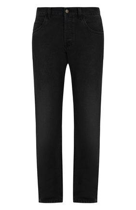 Джинсы прямого кроя Gucci черные | Фото №1