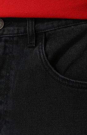 Джинсы прямого кроя Gucci черные | Фото №5
