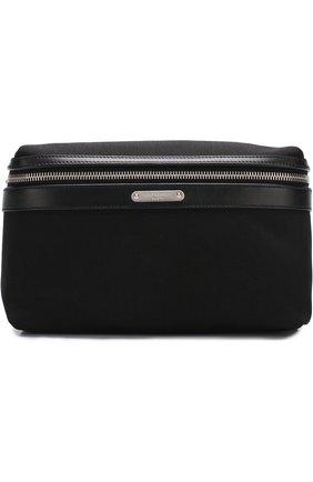 Мужская текстильная поясная сумка city на молнии SAINT LAURENT черного цвета, арт. 505973/GR0SE | Фото 1