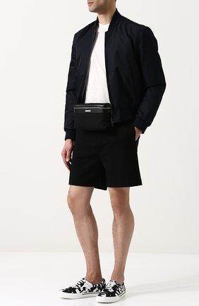 Мужская текстильная поясная сумка city на молнии SAINT LAURENT черного цвета, арт. 505973/GR0SE | Фото 2