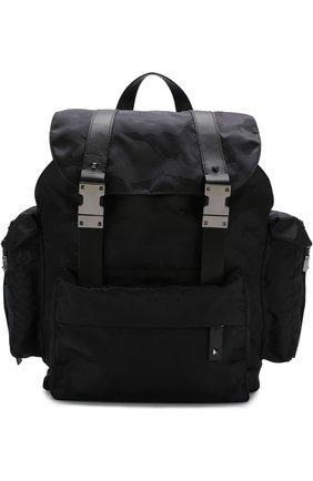 Текстильный рюкзак Valentino Garavani с камуфляжным принтом | Фото №1