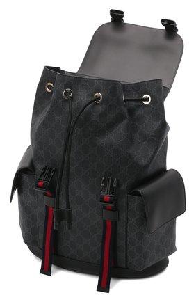 Мужской рюкзак gg supreme с клапаном GUCCI черного цвета, арт. 495563/K9R8X | Фото 4