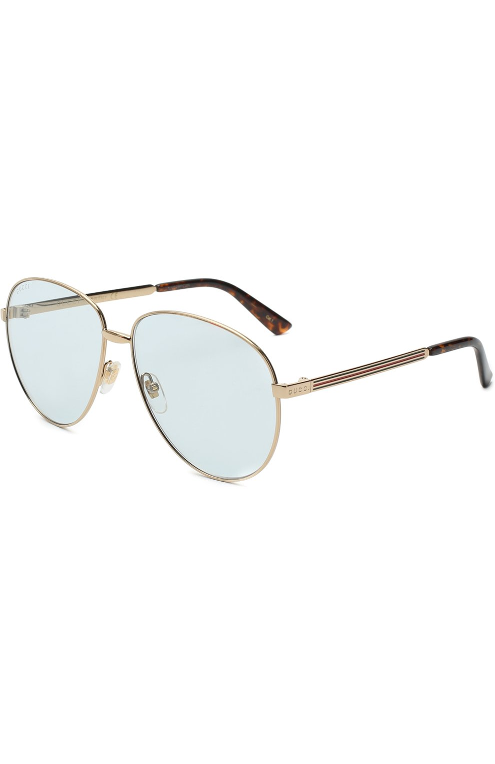 Женские солнцезащитные очки GUCCI золотого цвета, арт. GG0138 004 | Фото 1