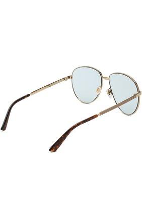 Женские солнцезащитные очки GUCCI золотого цвета, арт. GG0138 004 | Фото 3