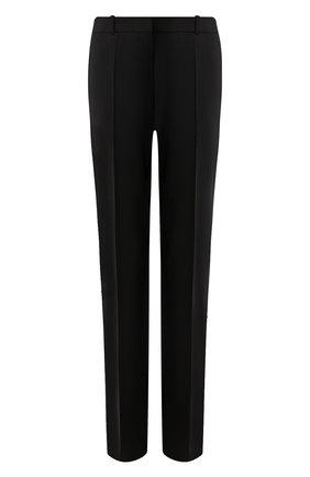 Женские шерстяные брюки BOSS черного цвета, арт. 50291873 | Фото 1