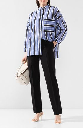 Женские шерстяные брюки BOSS черного цвета, арт. 50291873 | Фото 2