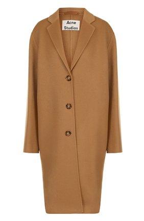 Пальто свободного кроя из смеси шерсти и кашемира Acne Studios черного цвета | Фото №1