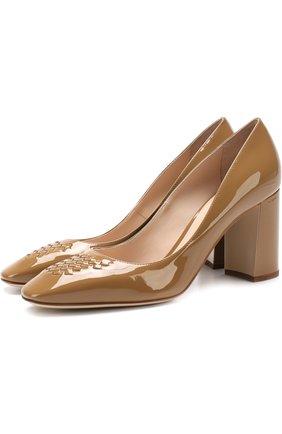 Лаковые туфли с плетением intrecciato | Фото №1