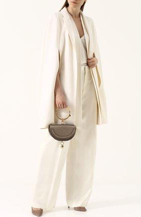 Женская сумка nile minaudière CHLOÉ серого цвета, арт. CHC17US302H5H23W   Фото 2